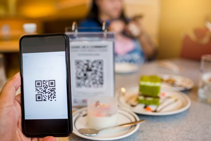 La app permite pagos QR