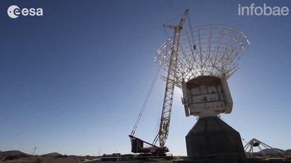 Construcción de la DSA3 en Mendoza (ESA)