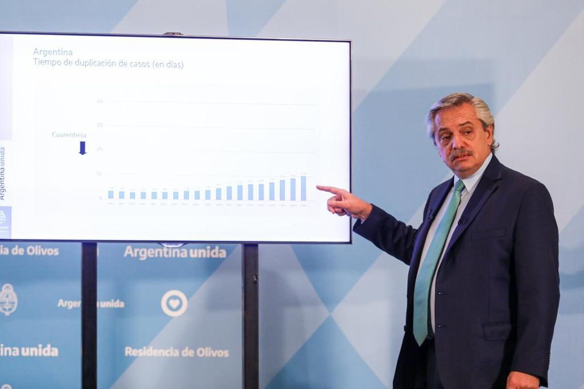 Los números que mostró Alberto Fernández para justificar la extensión de la cuarentena total - Infobae