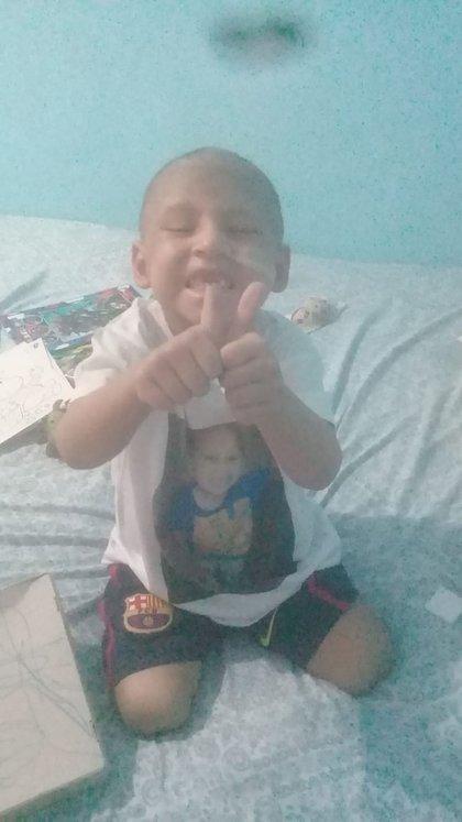 Thiago tiene 4 años y pelea contra una leucemia linfoblástica aguda tipo T