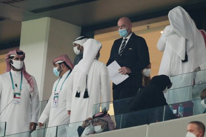 Gianni Infantino s'est rendu au Qatar pour assister à la Coupe du monde des clubs (Photo: REUTERS)