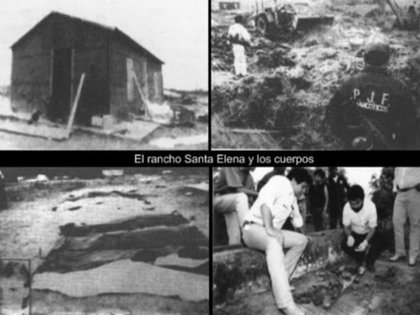 Tres de los 15 cuerpos nunca fueron identificados. En el rancho, la policía también encontró cargamentos de marihuana, cocaína, armas de fuego, y vehículos con teléfonos incorporados, un lujo en esa época (Foto: Archivo)