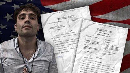 Los documentos con los que EEUU pide la extradición de Ovidio Guzmán (Foto: Jovani Pérez Silva/Infobae México)