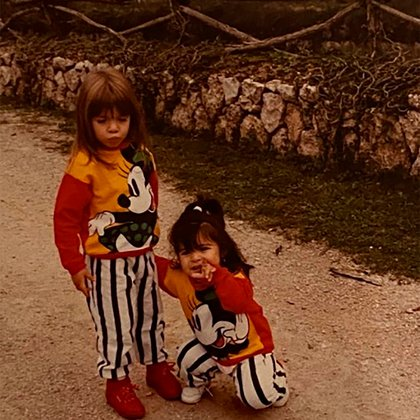 La foto de Gianinna para saludar a su hermana Dalma (Instagram @giamaradona)