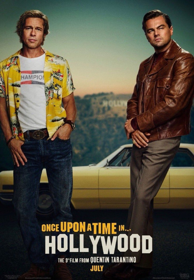 """El primer póster oficial de Leonardo DiCaprio y Brad Pitt en """"Once upon a time in Hollywood"""""""