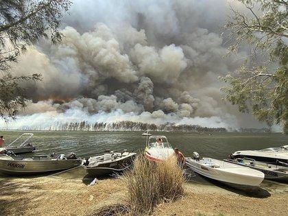 Imagen de los incendios en el sur de Australia (Robert Oerlemans via AP)