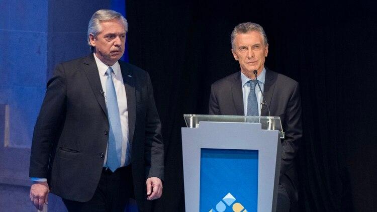 El candidato del Frente de Todos confrontó en forma permanente con Macri (foto Adrián Escandar)