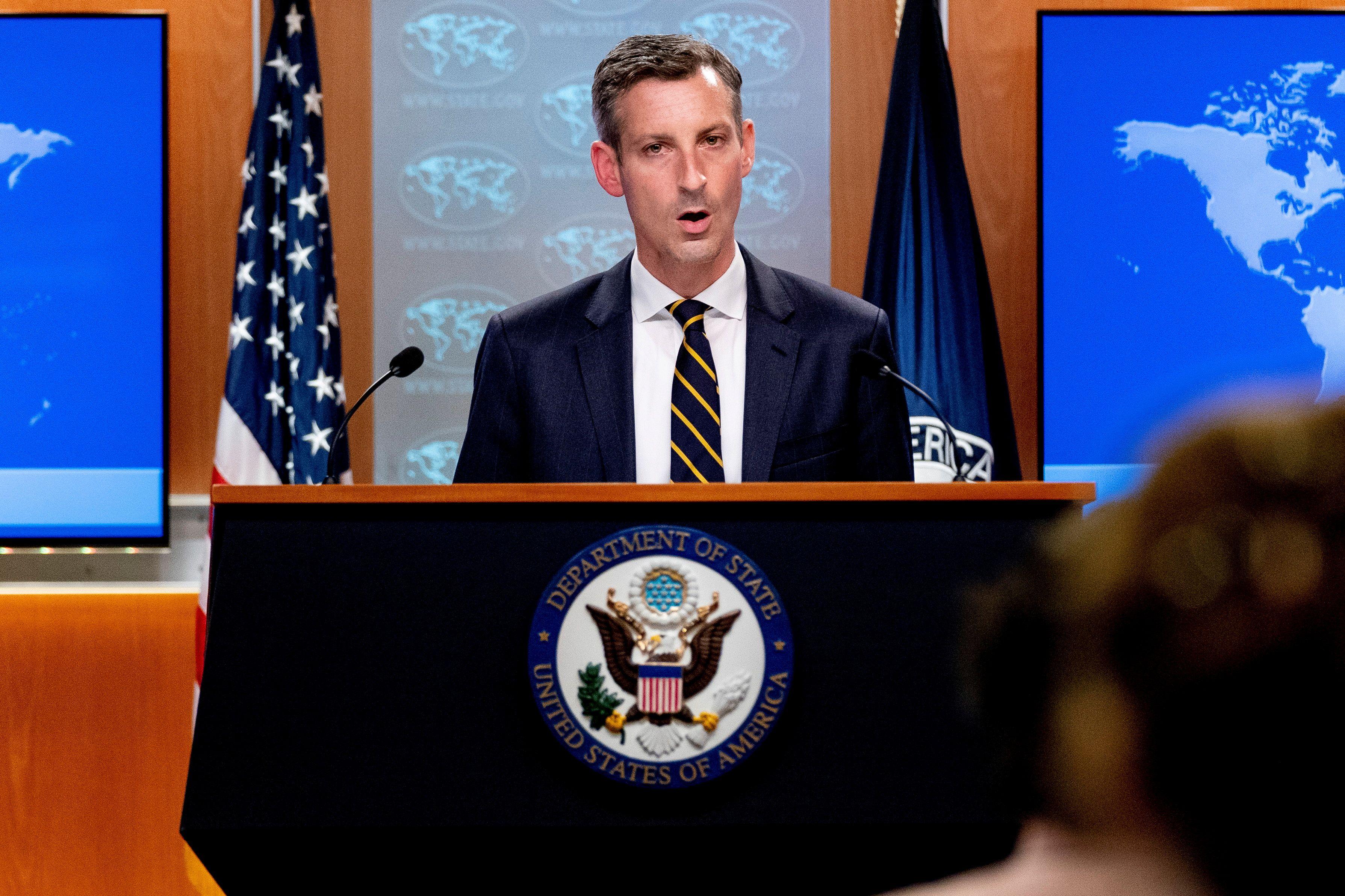 El portavoz del Departamento de Estado, Ned Price