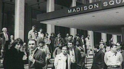 Sandro junto a Cacho Fontana en el Madison Square Garden (Foto: Cacho Fontana)