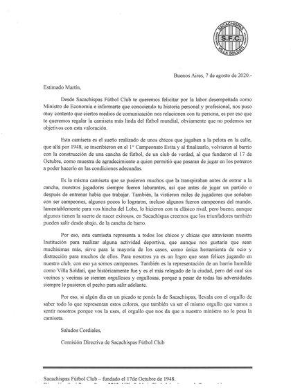 La carta de Sacachispa