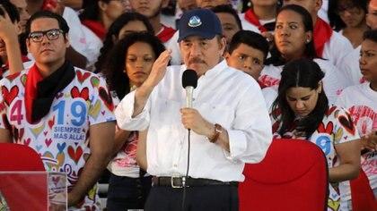Daniel Ortega en Managua el 19 de julio de 2019 (Foto: INTI OCON / AFP)