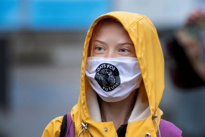 La activista climática sueca Greta Thunberg de 18 años confesó que sufre Asperger. Jessica Gow /TT News Agency/via REUTERS/Archivo