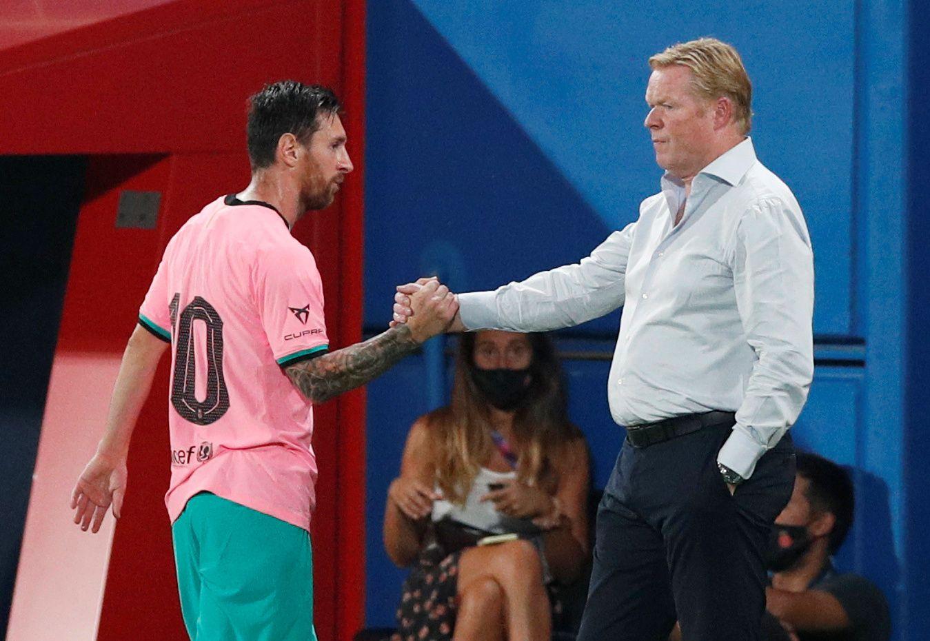Koeman sostiene que Messi está compenetrado con su proyecto (Reuters)