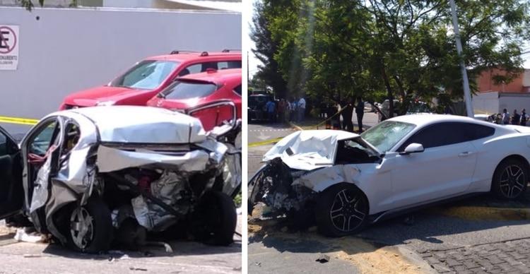 El automóvil donde viajaban las dos personas que perdieron la vida (izquierda) y el vehículo que manejaba Maleck (Foto: Especial)