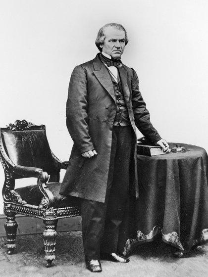 Andrew Johnson fue el 17° presidente de Estados Unidos. Asumió tras el asesinato de Abraham Lincoln.