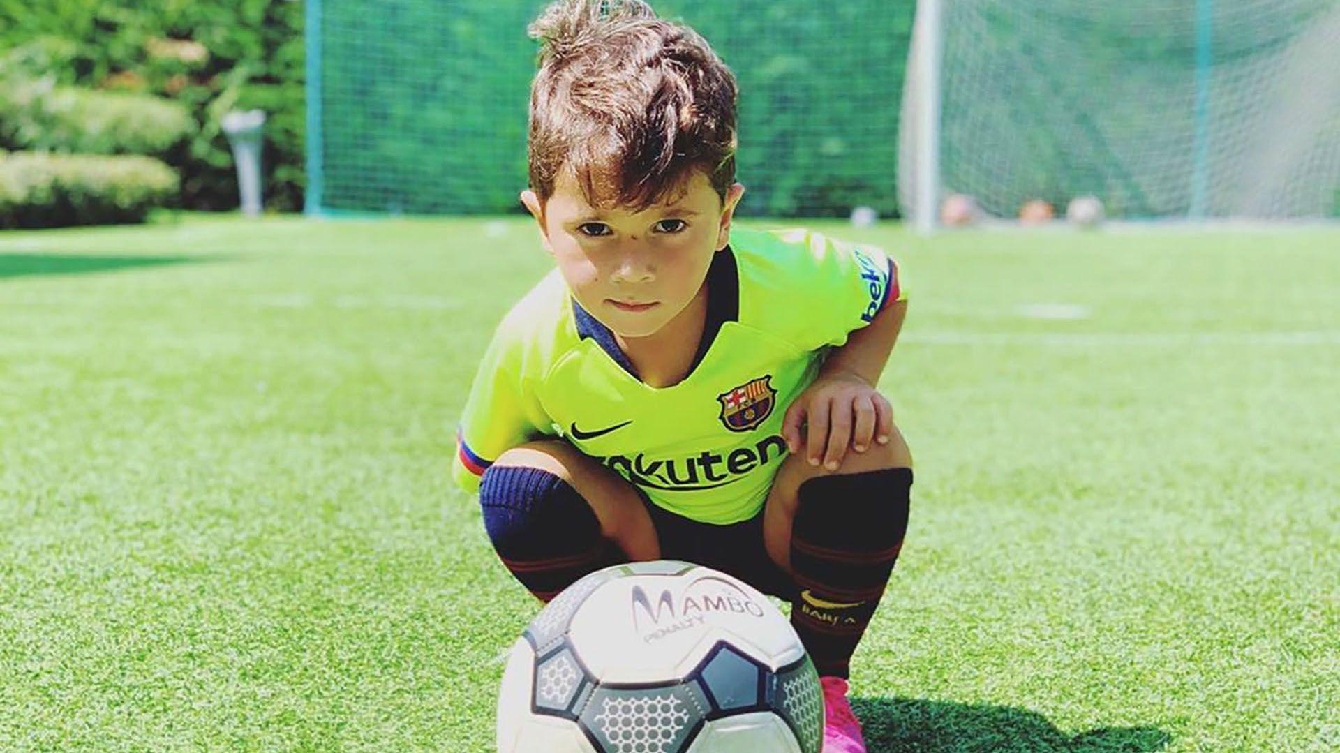 Mateo Messi se transformó en furor en las redes sociales