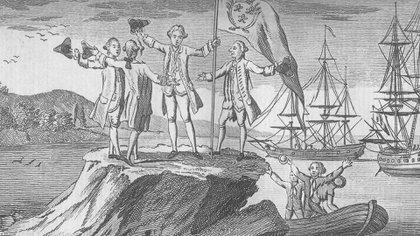 El Reino Unido solo había fundado en 1765 el fuerte de Puerto Egmont, en un islote llamado Saunders. Foto: Archivo DEF.