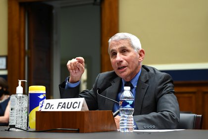 Dr. Anthony Fauci, Director of the National Institute for Allergy and Infectious Diseases, National Institutes of Health, testifies during a House Energy and Commerce Committee hearing on the Trump Administration's Response to the COVID-19 Pandemic, on Capitol Hill in Washington, DC on Tuesday, June 23, 2020. Kevin Dietsch/Pool via REUTERS