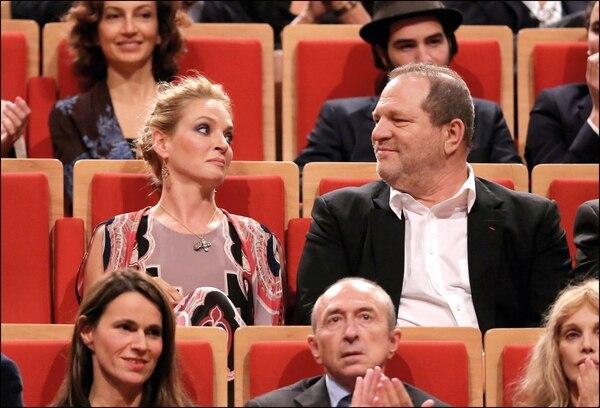 Uma Thurman y Harvey Weinstein