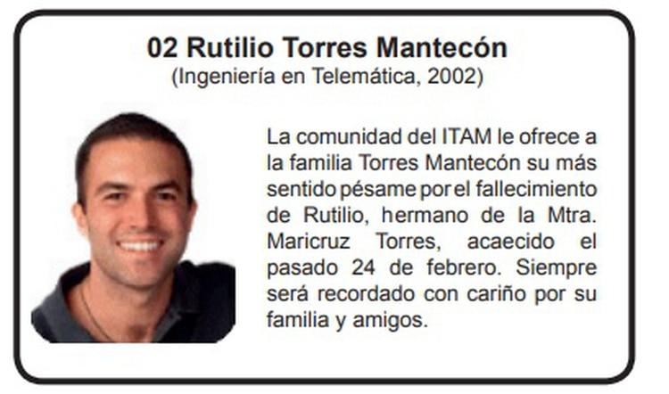 Fue en la edición de agosto de 2008 de la revista Conexión, producida por el ITAM, donde se dio a conocer escasos detalles del deceso. (Foto: captura de pantalla)