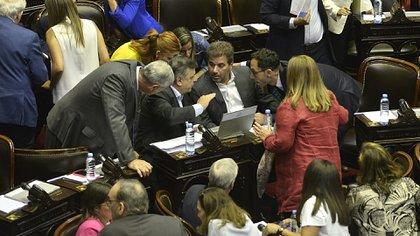 La bancada de Juntos por el Cambio en la Cámara de Diputados (Gustavo Gavotti)