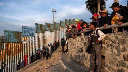 Migrantes hondureños en Tijuana, México(Foto: AFP)
