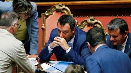 El líder de la Liga Matteo Salvini (REUTERS/Remo Casilli)