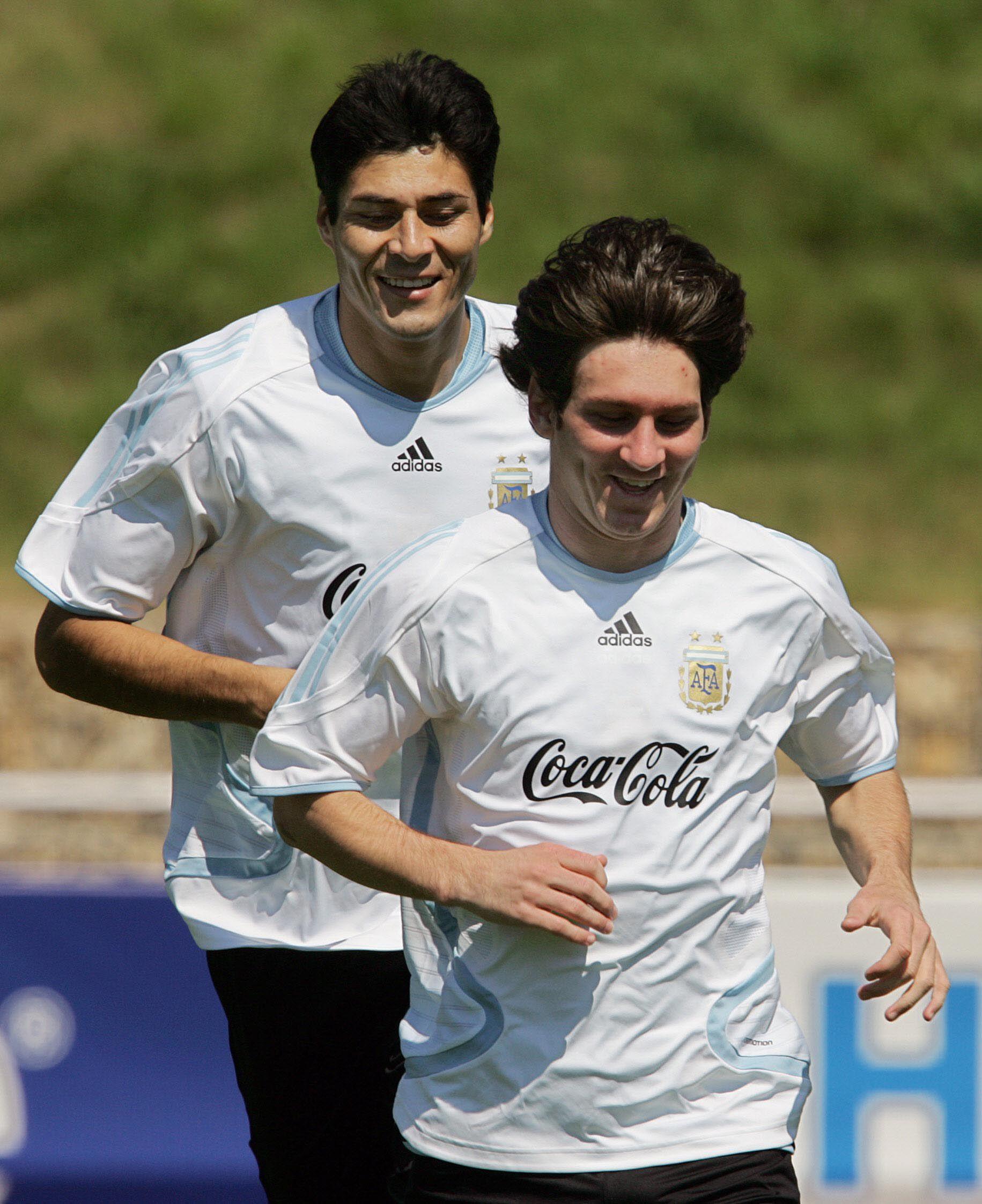 En el 2006, durante su primera presencia en un Mundial con Argentina