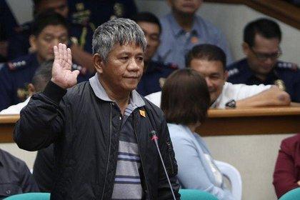 Edgar Matobato es un miembo arrepentido de los escuadrones de la muerte que testificó ante el Senado filipino (Philippine Daily Enquirer)
