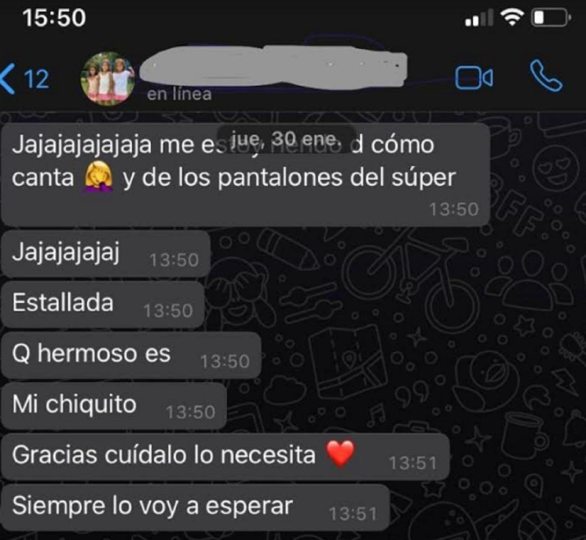 El chat privado y la declaración de amor de Cinthia Fernández a Martín Baclini antes de la crisis