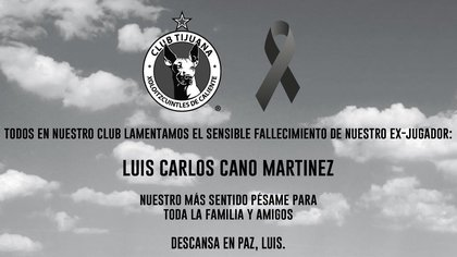 Condolencia institucional de los Xolos de Hermosillo (Foto: Twitter/ @Xolos_Hmo)