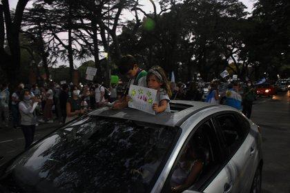 La marcha también se replicó en otros puntos de la Ciudad y el Conurbano