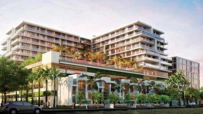 En 2018, García Luna y su esposa adquirieron múltiples propiedades en Miami, Florida, en Estados Unidos (Foto: aventuraparksquare)