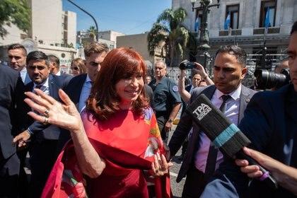 Cristina Kirchner el domingo pasado en el Congreso (foto Franco Fafasuli)