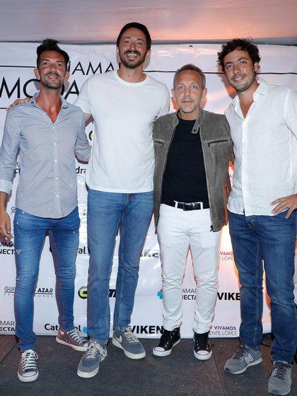 Eduardo Isach Secretario de Cultura, Martin Yeza, intendente , Guillermo Azar y Juan Ibarguren Secretario de Turismo de Pinamar