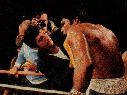 La pelea Galíndez vs Kates en 1976 (Foto: Archivo Maximiliano Roldán)