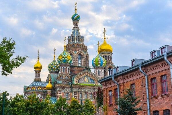 La Iglesia del Salvador y la sangre derramada en San Petersburgo, Rusia (Getty Images)