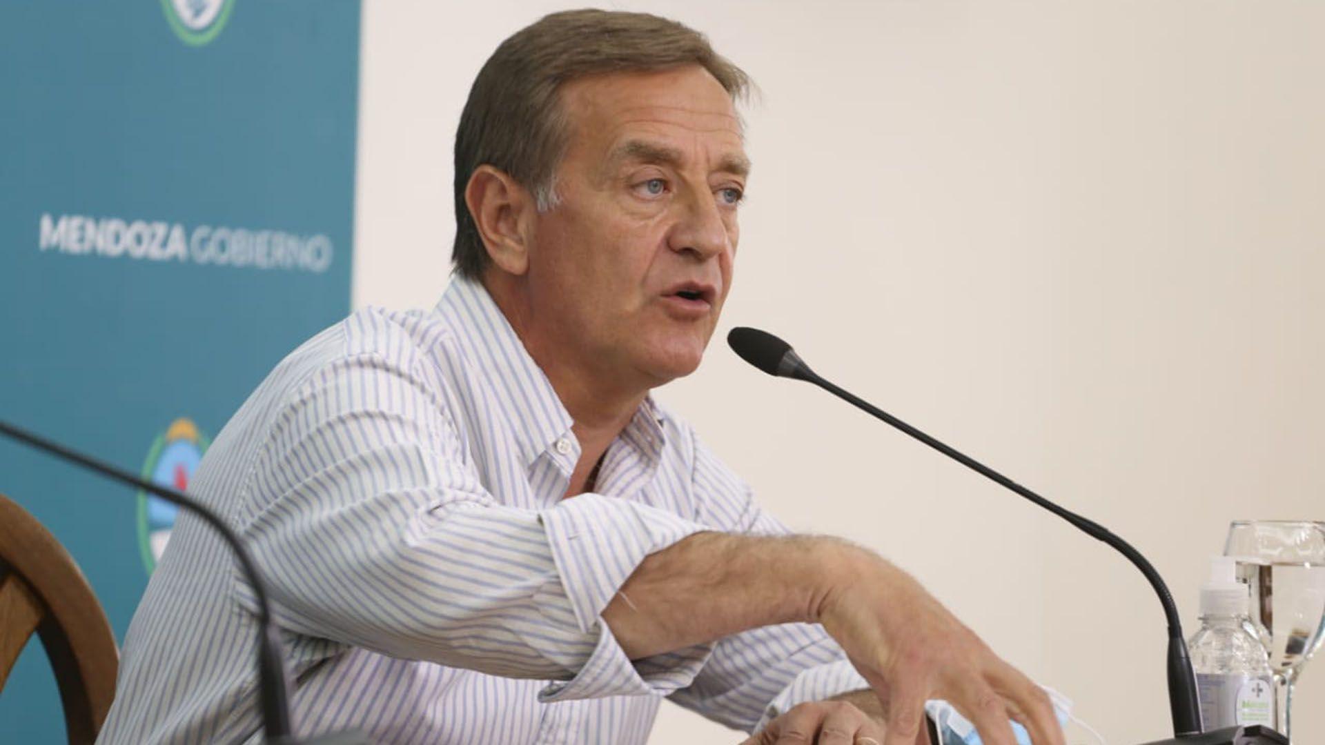 rodolfo suarez Gobernador de Mendoza