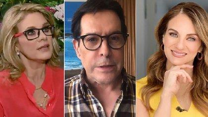 Flor Rubio (d) opinó sobre la controversia entre Erika Buenfil y Juan José Origel (IG: erikabuenfil50/juanjoseorigel/florrubiooficial)