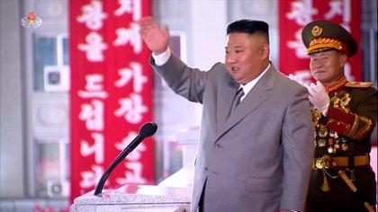 Kim Jong-un, en el desfile