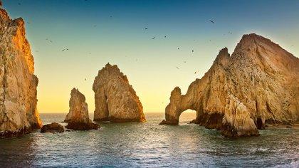 Vista de El Arco, popular postal de Los Cabos, Baja California Sur, en México. (Shutterstock)