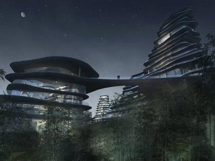 El pueblo de montaña de Huangham