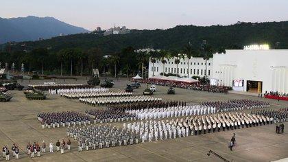 La ceremonia de graduación de los militares en 2019 (Reuters)