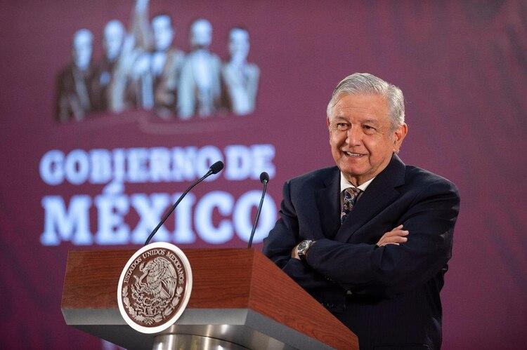 Obrador, durante su conferencia de prensa (Foto: Cortesía Presidencia)