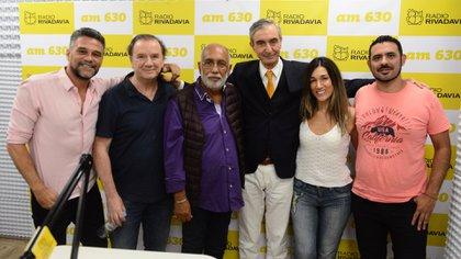 Lucas Bertero, Luis Beldi, Oscar González Oro, Nelson Castro, Mariana Clark y Nicolás Machuca