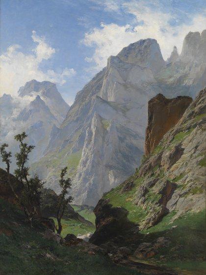 """""""La Canal de Mancorbo en los Picos de Europa"""" (1876) de Carlos de Haes (Museo Nacional del Prado)"""