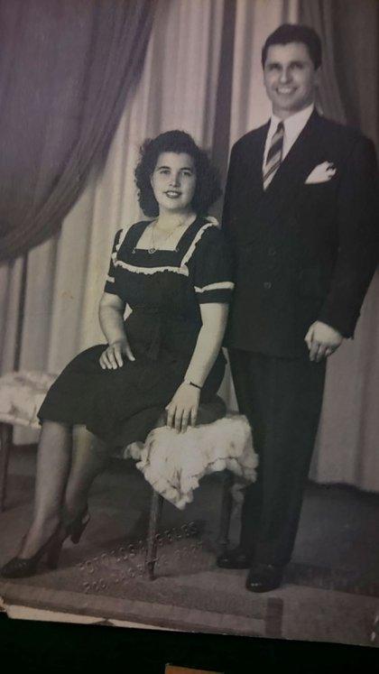 José Darío Barbieri y su esposa Antonietta. Después del golpe del '55, a José lo encarcelaron con una falsa acusación. Fue torturado y salió en libertad 15 días después