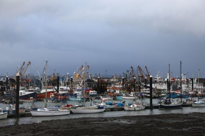 General view of the port of Newlyn.  REUTERS / Tom Nicholson