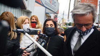 Silvia Majdalani, exsubdirectora de la AFI, antes de ingresar a los tribunales de Lomas Zamora para declarar en la causa que investiga una supuesta red ilegal de espionaje