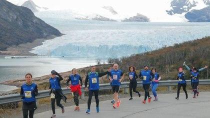Postal de la carrera en El Calafate (Facebook: Media Maratón del Glaciar)